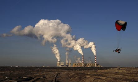 Europe's largest coal-fired power plant, in Belchatow, Poland