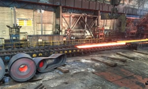 The hot rolled mill at the Port Talbot steelworks in South Wales