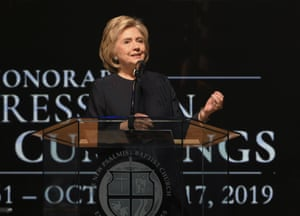 Hillary Clinton speaks at the funeral service for Elijah Cummings.