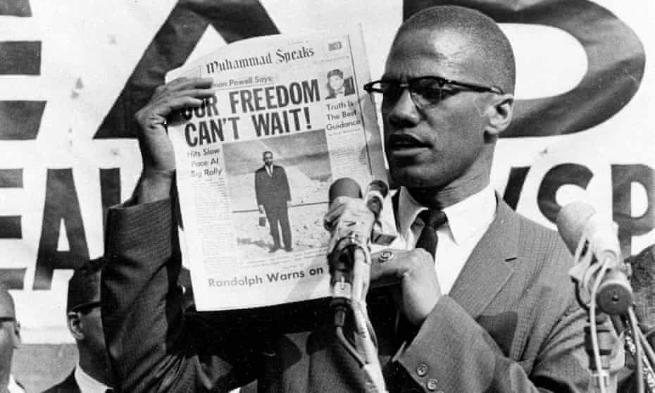 Malcolm X at a rally in New York in 1963; he was assassinated two years later.