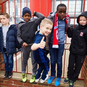 Young Middlesbrough fans