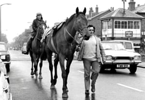 Ellison and Red Rum make their way back to the yard