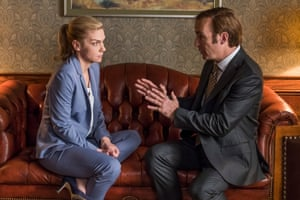 Rhea Seehorn and Bob Odenkirk in Better Call Saul.