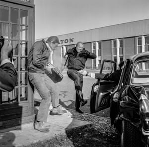An action sequence filmed on an industrial estate in Bracknell, Berkshire