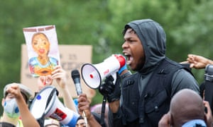 Star Wars actor John Boyega speaks in Hyde Park, London
