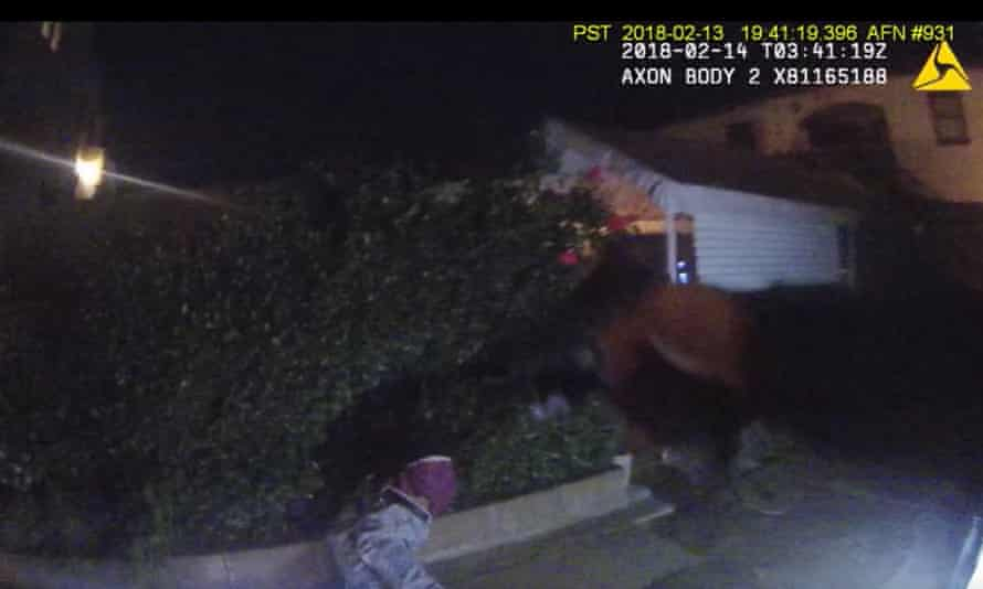 Body-camera footage of Ryan McMahon chasing Ronell Foster in 2018 and fatally shooting him in the back as he was trying to flee.