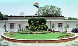 A brick-and-cement bungalow designed by Edwin Lutyens is pictured in Delhi