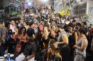 Pedra do Sal in the former slave quarter in Rio de Janeiro, considered to be the origin of samba music in Brazil