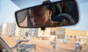 Bibata Gansgne, aka Biba, is the only female taxi driver in Burkina Faso's capital, Ouagadougou