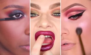 Jacky Aina, Michael Finch and Nikkie De Jager, three well-known beauty bloggers on YouTube.