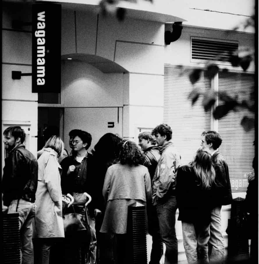 A queue forms outside the first Wagamama on the day it opened in 1992.