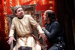 Richard McCabe and Joseph Millson in Josie Rourke's 2006 production of King John.