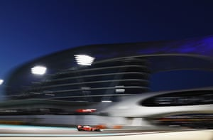 Vettel sets the fastest lap, storming through the field.