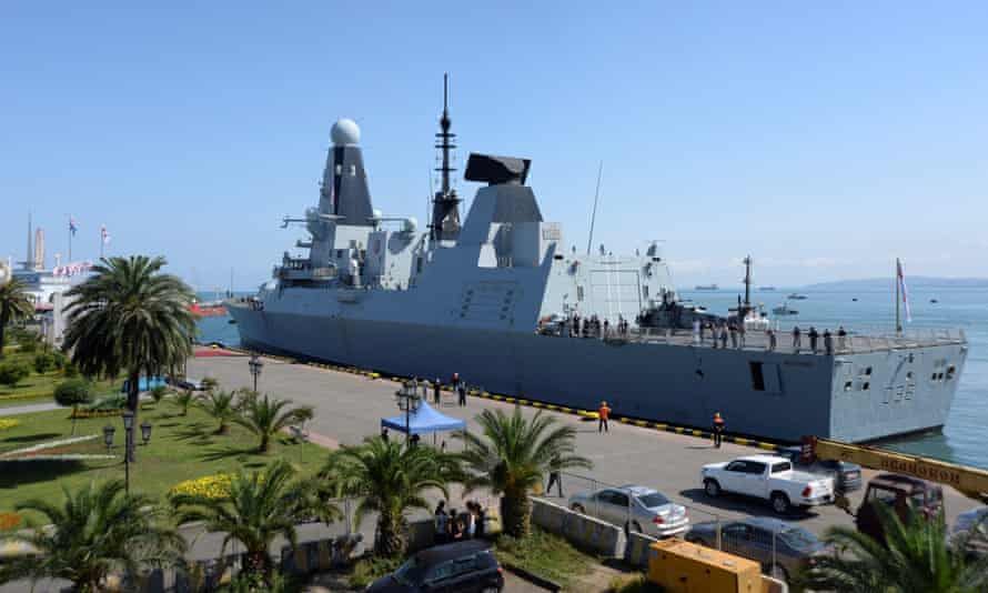HMS Defender arrives in the Black Sea port of Batumi