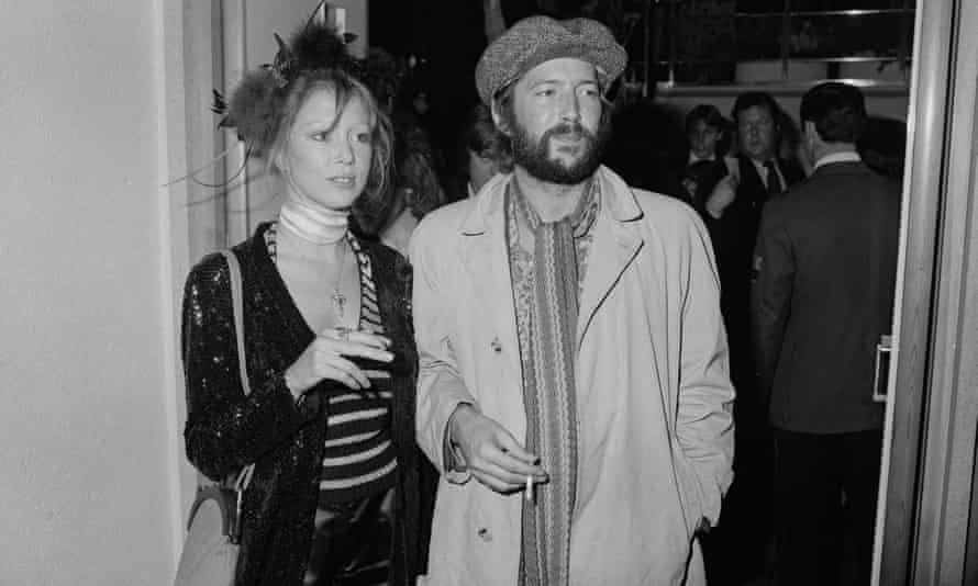 Clapton with Pattie Boyd at the premiere of Ken Russell's film version of The Who's rock opera Tommy in London, March 1975.