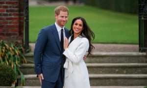 Meghan and Harry announcing their engagement: Winfrey was invited to the wedding having met the couple only once.