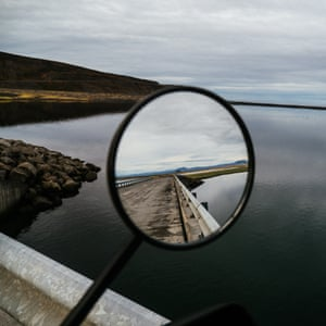 A rear view over a bridge in north eastern Iceland
