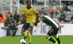 Ainsley Maitland-Niles (left) was outstanding for Arsenal, calm in his defensive work and lightning fast when he broke forward.