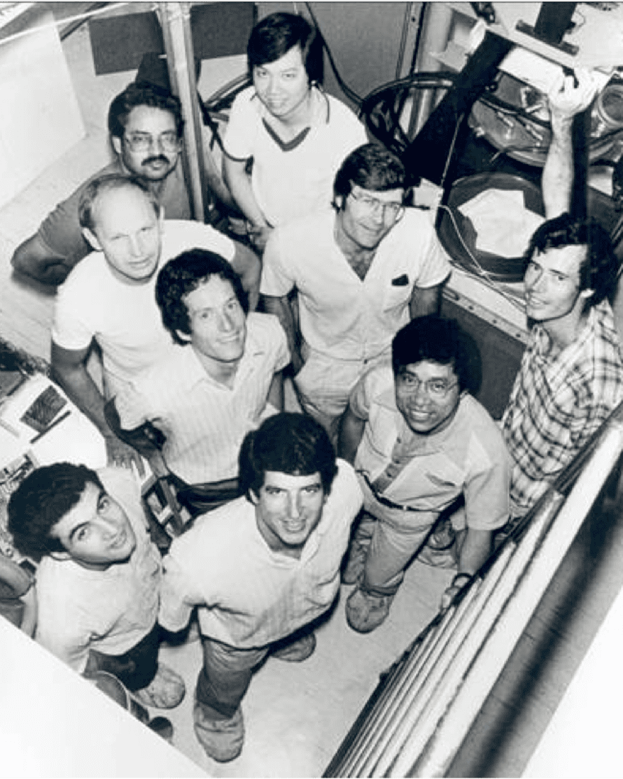 Martin Green and the team that built the first solar cell capable of running at 20% efficiency in 1989