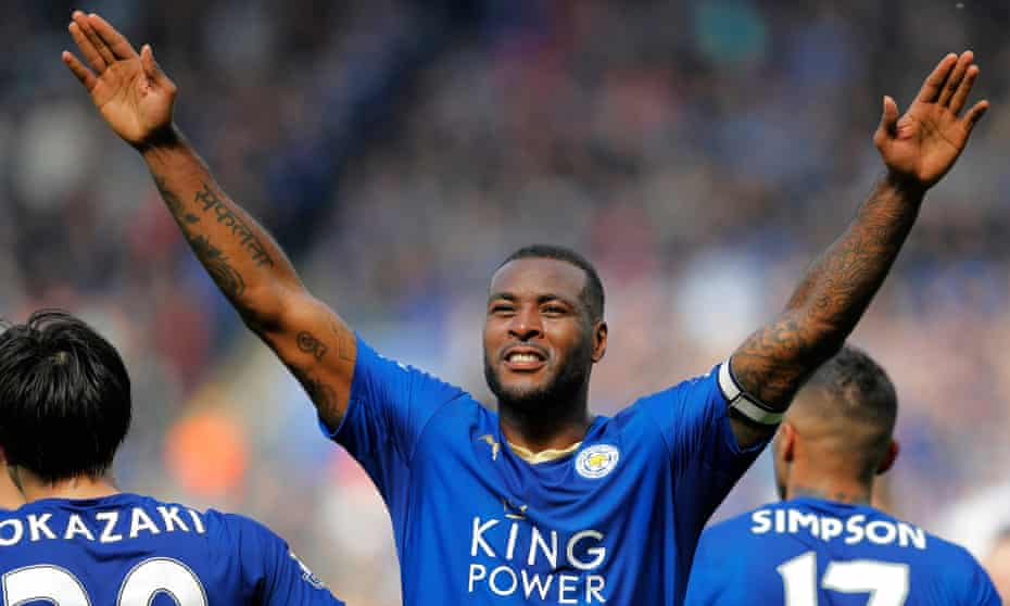 Wes Morgan after scoring Leicester City's winner against Southampton.