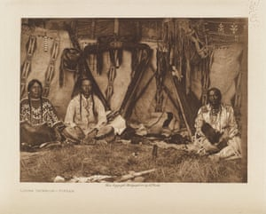 A lodge interior of the Piegan, members of the Blackfoot confederacy.