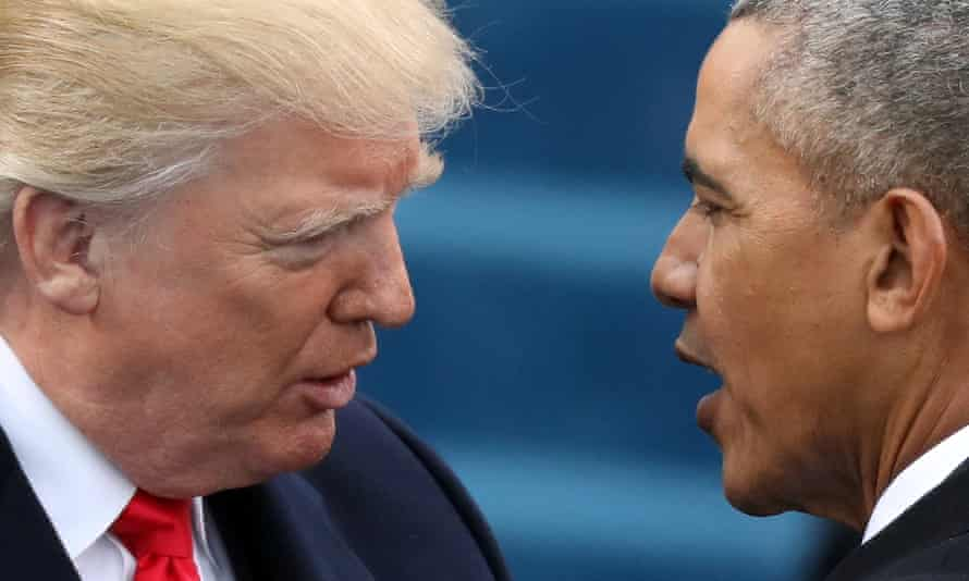 FILE PHOTO: U.S. President Barack Obama greets President-elect Donald Trump at inauguration ceremonies swearing in Trump as president on the West front of the U.S. Capitol in Washington, U.S.FILE PHOTO: U.S. President Barack Obama (R) greets President-elect Donald Trump at inauguration ceremonies swearing in Trump as president on the West front of the U.S. Capitol in Washington, U.S., January 20, 2017. REUTERS/Carlos Barria/File Photo