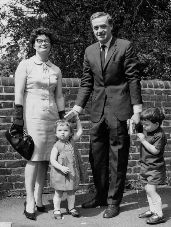 Mollie, Sarah, Albert and Peter Bradshaw, 1965.