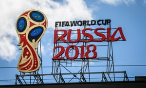 TOPSHOT-FBL-WC-2018-FEATURE<br>TOPSHOT - A picture taken on June 6, 2018 shows the 2018 FIFA World Cup logo on top of a building in Moscow. / AFP PHOTO / Mladen ANTONOVMLADEN ANTONOV/AFP/Getty Images