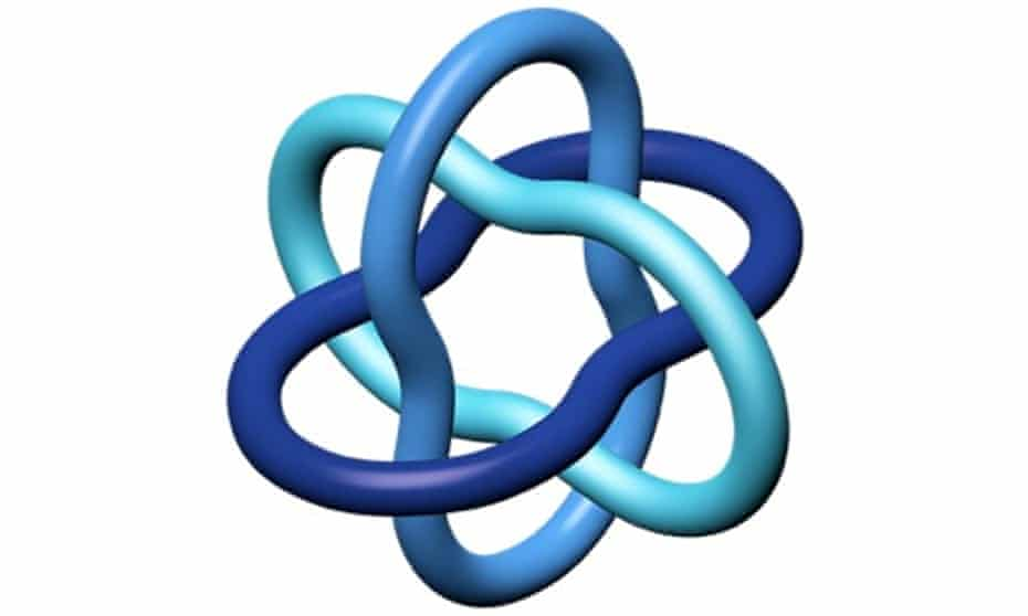 An example of the Borromean rings, which is also the logo of the International Mathematical Union.