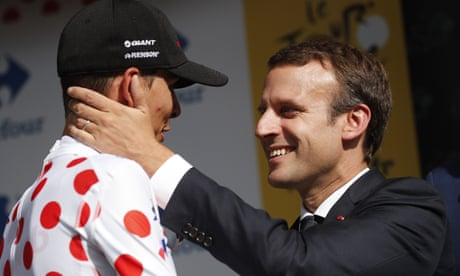 Tour de France diary: Macron's man-hug, Barguil usurps Bardet and a killer wolf | William Fotheringham