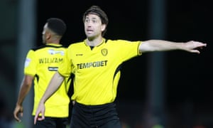 Shaun Barker, pictured making his only Burton appearance of 2016-17, pays tribute to Nigel Clough: 'I wouldn't have played first-team football again if it wasn't for him.'