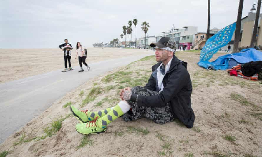 Michael Munsterman from Oklahoma has been homeless in Venice, California, for six years.