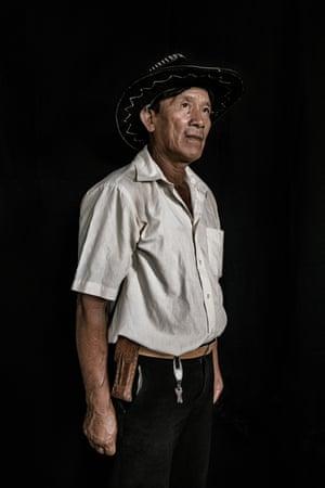 Faustino da Silva, 55, from the Macuxi tribe in Pacaraima