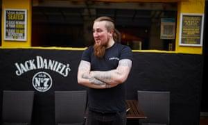 Jordan Spencer outside Forman's Bar, Nottingham.