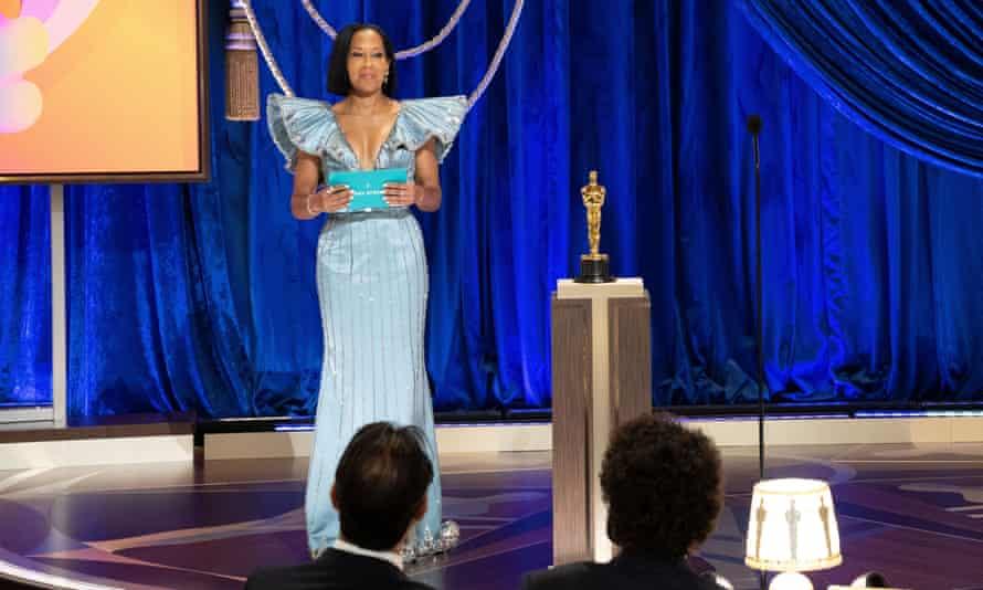 Regina King introducing the ceremony
