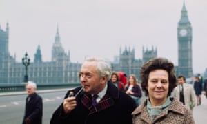Harold Wilson and his wife Mary campaigning before the 1974 general election