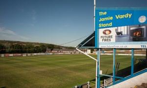 Stocksbridge Park Steels FC ground, Sheffield, where Jamie Vardy spent seven seasons.