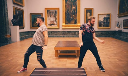Dan and Luke dancing on Flirty Dancing