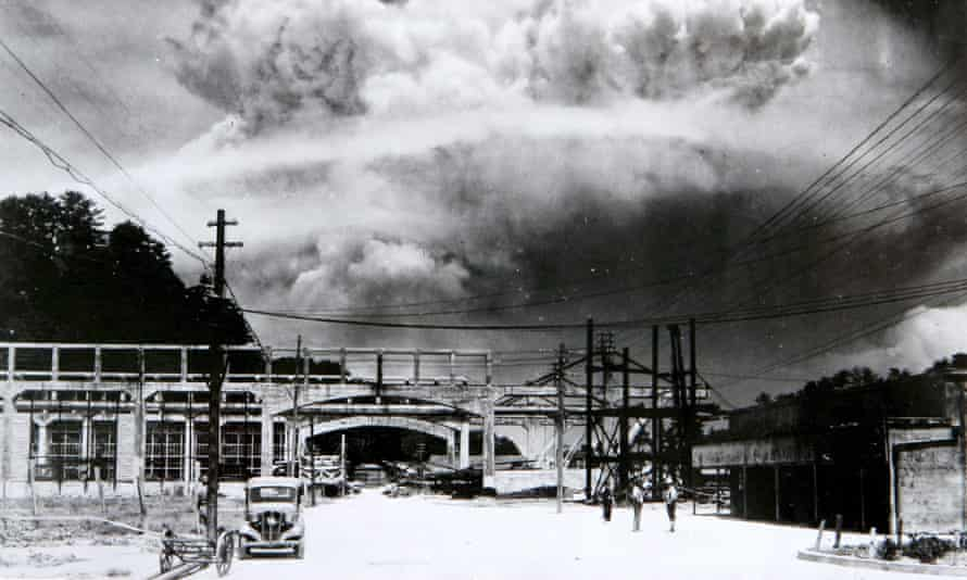 The mushroom cloud after the bombing of Nagasaki on 09 August 1945, killing more than 73,000 people.