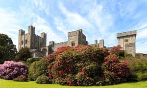 Penrhyn Castle, a Neo-Norman castle in Llandygai, Bangor, Gwynedd, North Wales, United Kingdom