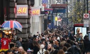 Christmas Shoppers, London