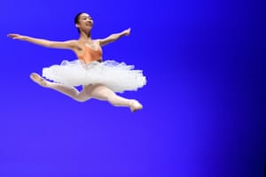 Montreux, Switzerland: Chaeyeon Kang from Korea performs during the first day of the 48th Prix de Lausanne at the 2m2c Montreux Music & Convention Centre. Launched in 1973, the Prix de Lausanne is an international competition for dancers aged 15 to 18