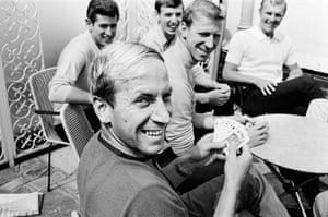 Bobby Charlton, Peter Bonetti, Martin Peters, Jack Charlton and Bobby Moore