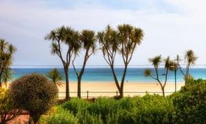'Pristine white sand and calm waters': landscape shot St Brelade's Bay, Jersey.