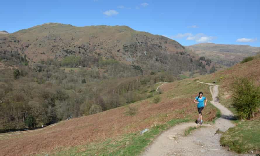 A runner on Loughrigg Fell