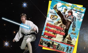 Cheekily, charmingly brazen … Luke Skywalker, and the poster for Turkish Star Wars.