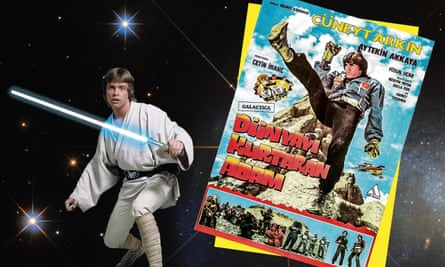 Cheekily, charmingly brazen … Luke Skywalker, and the poster for Turkish Star Wars.