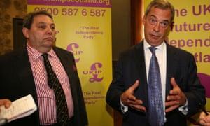 David Coburn (left) with Nigel Farage, the Ukip leader.