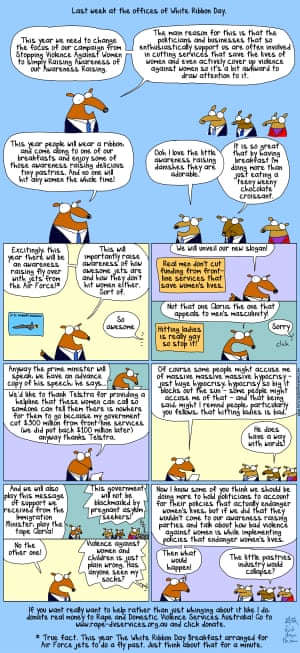 White Ribbon Day cartoon from First Dog on the Moon.