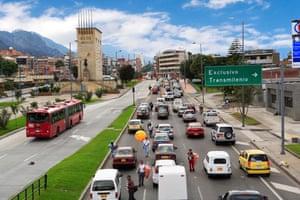 Bus in Bogota